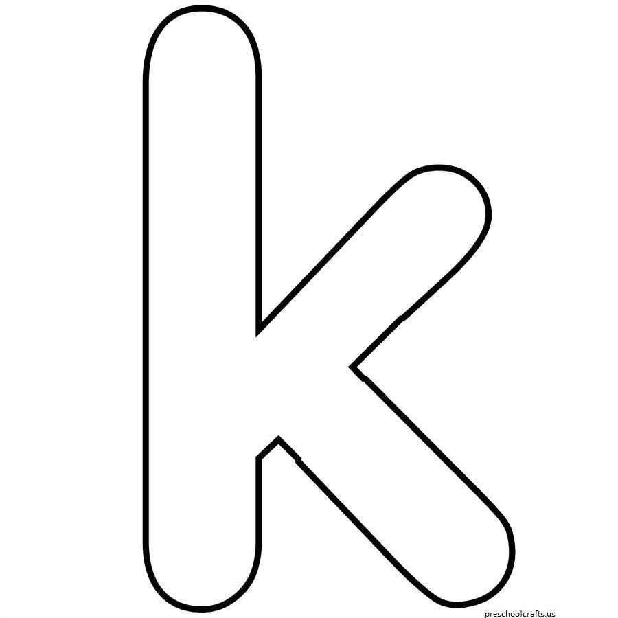 Moldes Da Letra K Para Imprimir Letter K Knutselen Alfabet Letters Geletterdheid