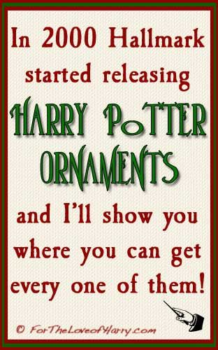 In 2000 Hallmark started releasing Harry Potter ornaments. Many are hard to find but when you visit my site I'll show you where to find them all! #hp #harrypotter #potterhead #hallmark #ornament #christmas