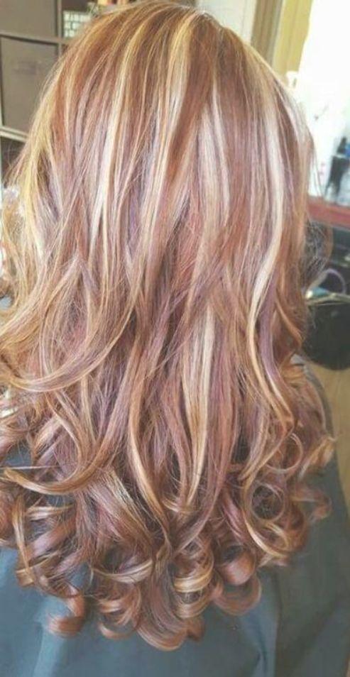 Hair Highlights And Lowlights Caramel Red Strawberry Blonde 40 Best Ideas Hair Hair Highlights And Lowlights Red Blonde Hair Red Hair With Blonde Highlights