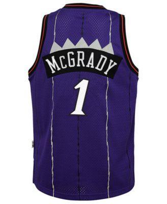 04012a95a50a adidas Big Boys Tracy McGrady Toronto Raptors Retired Player Swingman Jersey  - Purple M