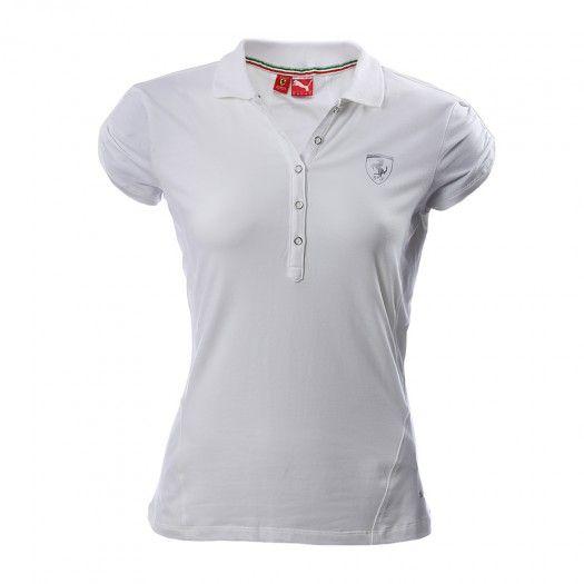 Con sus líneas femeninas y toques sutiles La Camiseta tipo Polo Ferrari de  Puma esta diseñada
