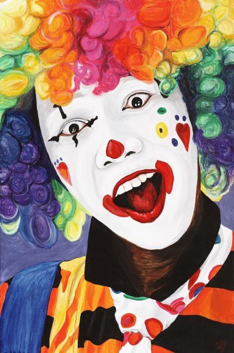 Rainbow Clown By Patty Vicknair Clown Paintings Clown Faces Creepy Clown