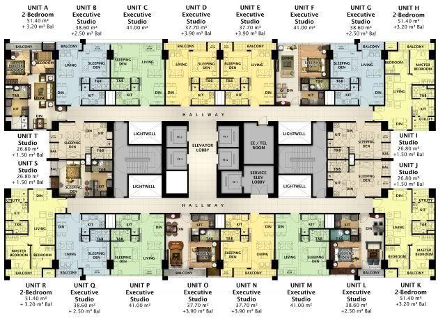 Greenbelt Hamilton Megaworld Makati Condo Condominium Floor Plan Hotel Floor Plan Condo Floor Plans