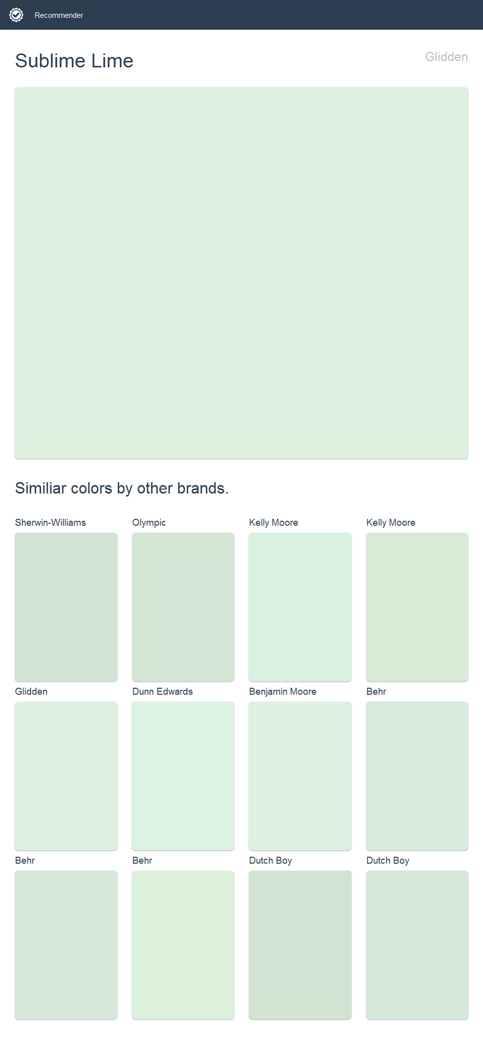 Sublime Lime, Glidden. Click the image to see similiar colors by ...