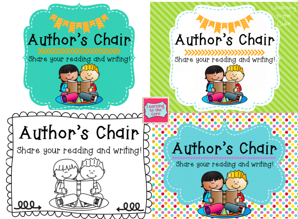 Do you have an author's chair in your classroom? This is ...