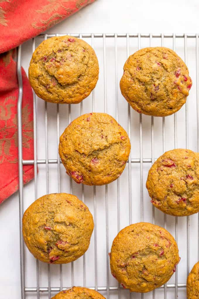 Whole wheat cranberry sauce muffins #cranberrysauce