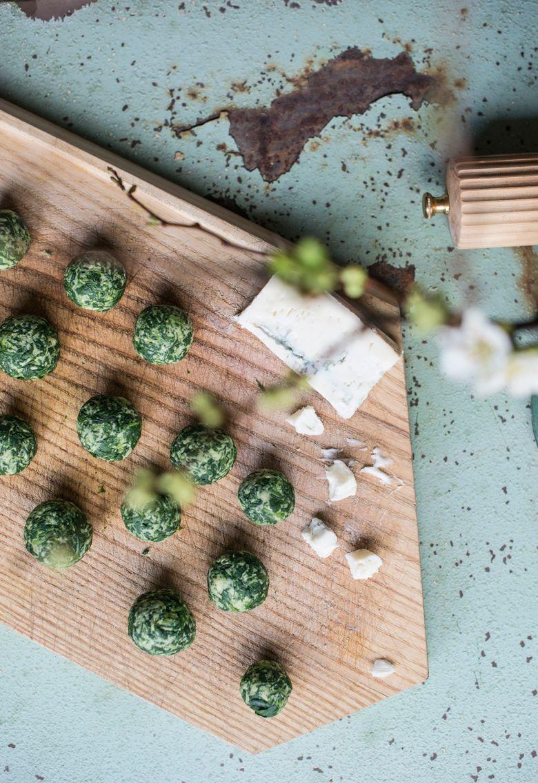 Frühjahrsputz. Bärlauch-Bällchen mit Gorgonzola | Das Mundwerk