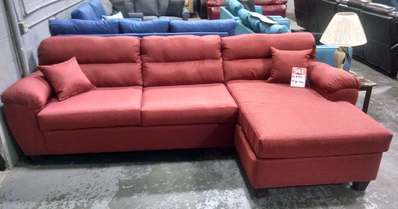 Cushion Arm Studio Sectional with Reversible Chaise Shown in ...