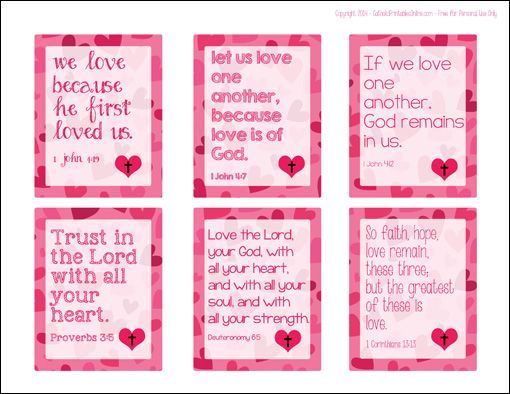free printable bible verse valentines for kids - Bible Verse For Valentines Day