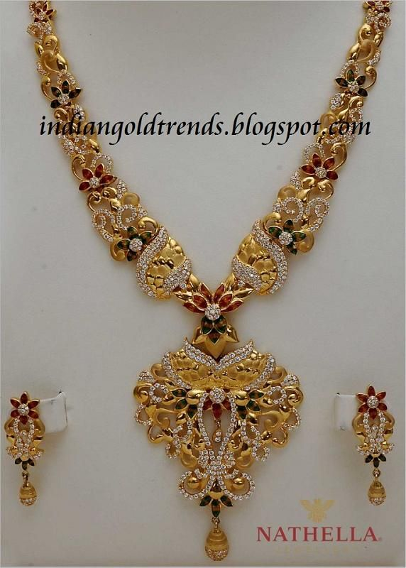 Latest Indian Gold And Diamond Jewellery Designs December