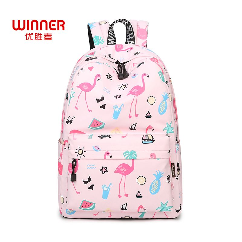 Find More Backpacks Information about WINNER Original Designer Backpacks  Brand Women Bags 2017 Cute Flamingo Printing Backpack For Teenage Girls  Laptop ... 5b6608eea6