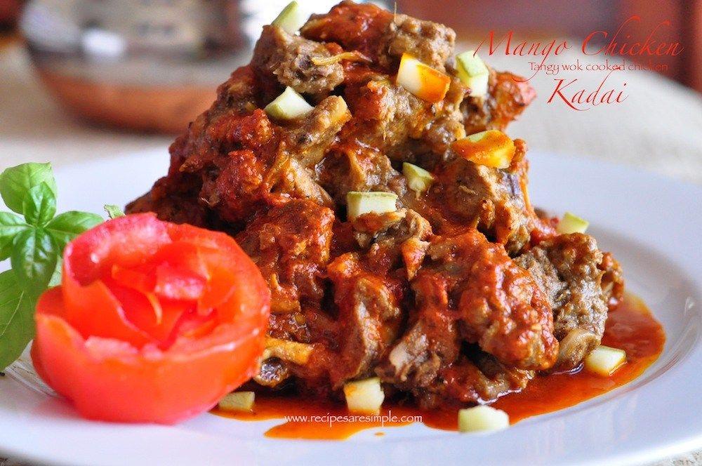 Mango chicken kadai food recipe videos pinterest cuisine foods forumfinder Images