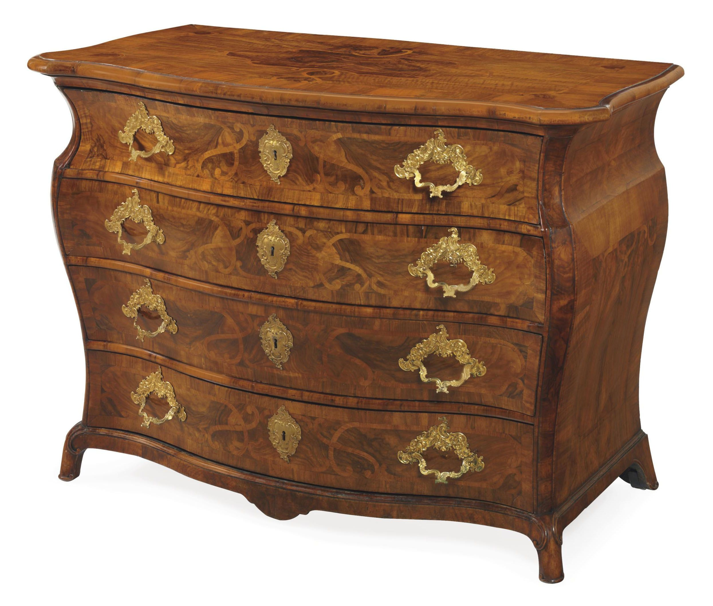 Möbel Bayreuth C1760 A German Walnut And Marquetry Commode Bayreuth Or Berlin
