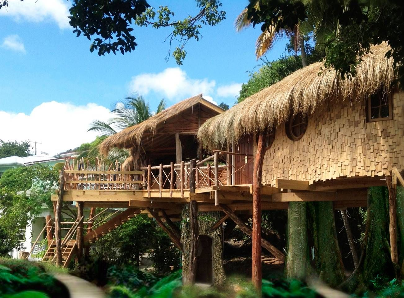 Bay treehouse treehouses for rent in laborie beach