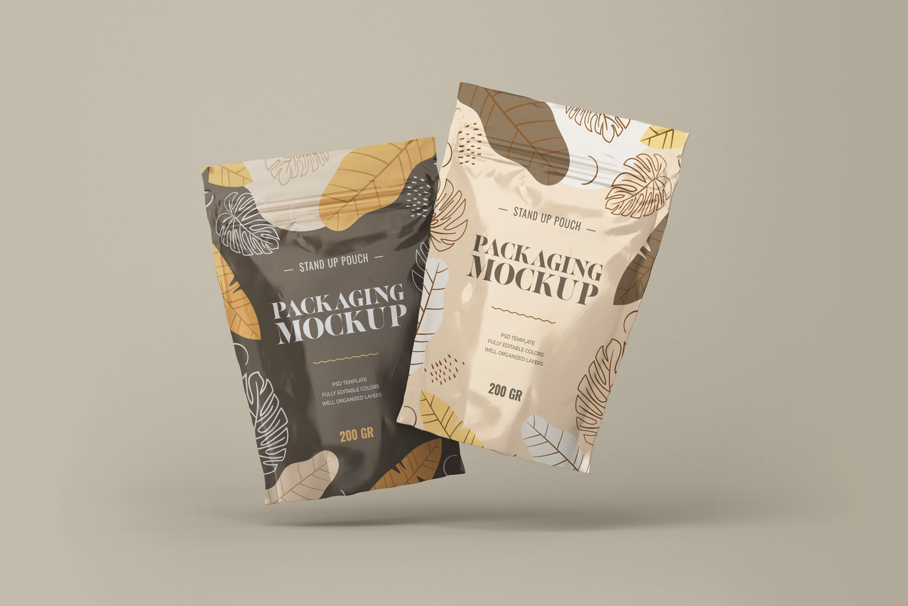 Download Stand Up Pouch Mockup Set Pouch Packaging Chip Packaging Packaging Mockup