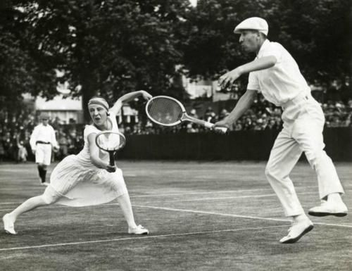 Suzanne Lenglen plays mixed doubles with René Lacoste 97adc3dfc34e7