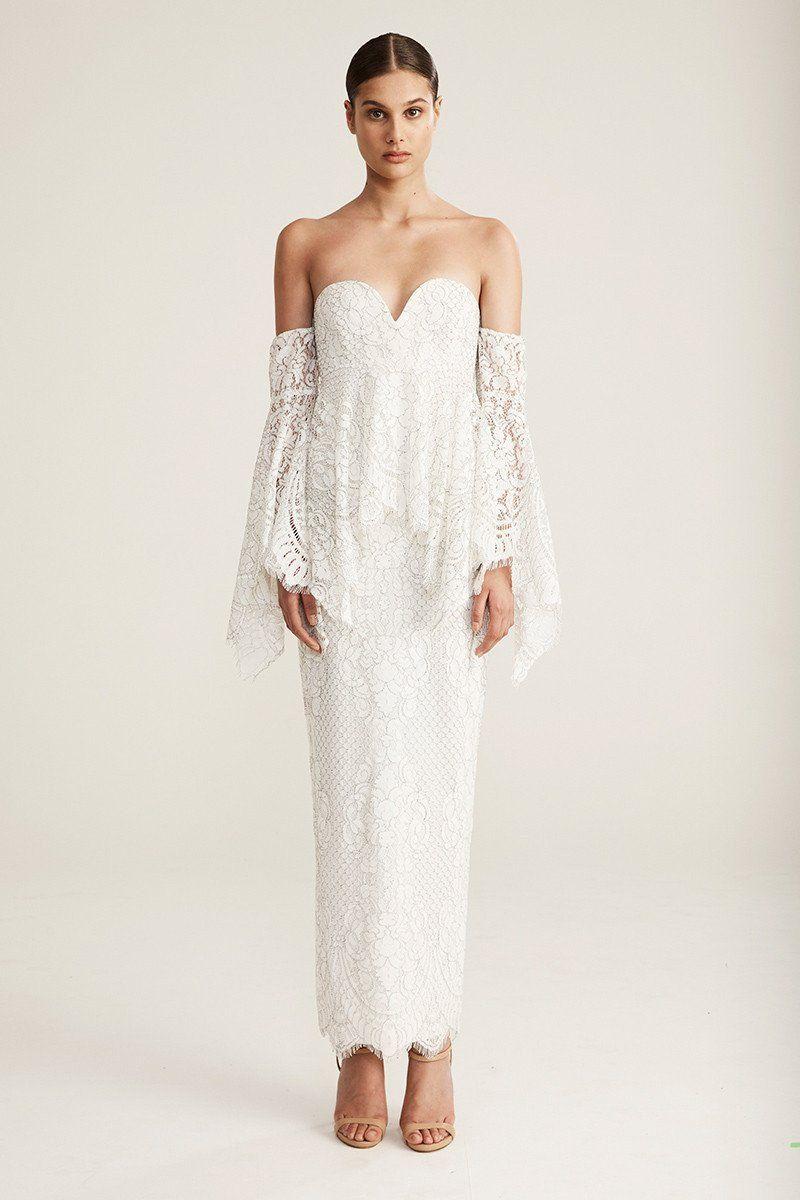 30f83d908a7 Shona Joy Angel Maxi Dress IVORY
