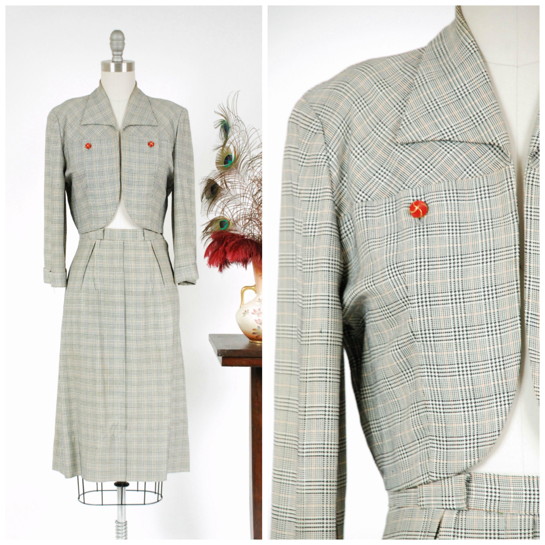 Jahrgang 1940er Jahre Anzug fantastische maßgeschneiderte | vintage ...