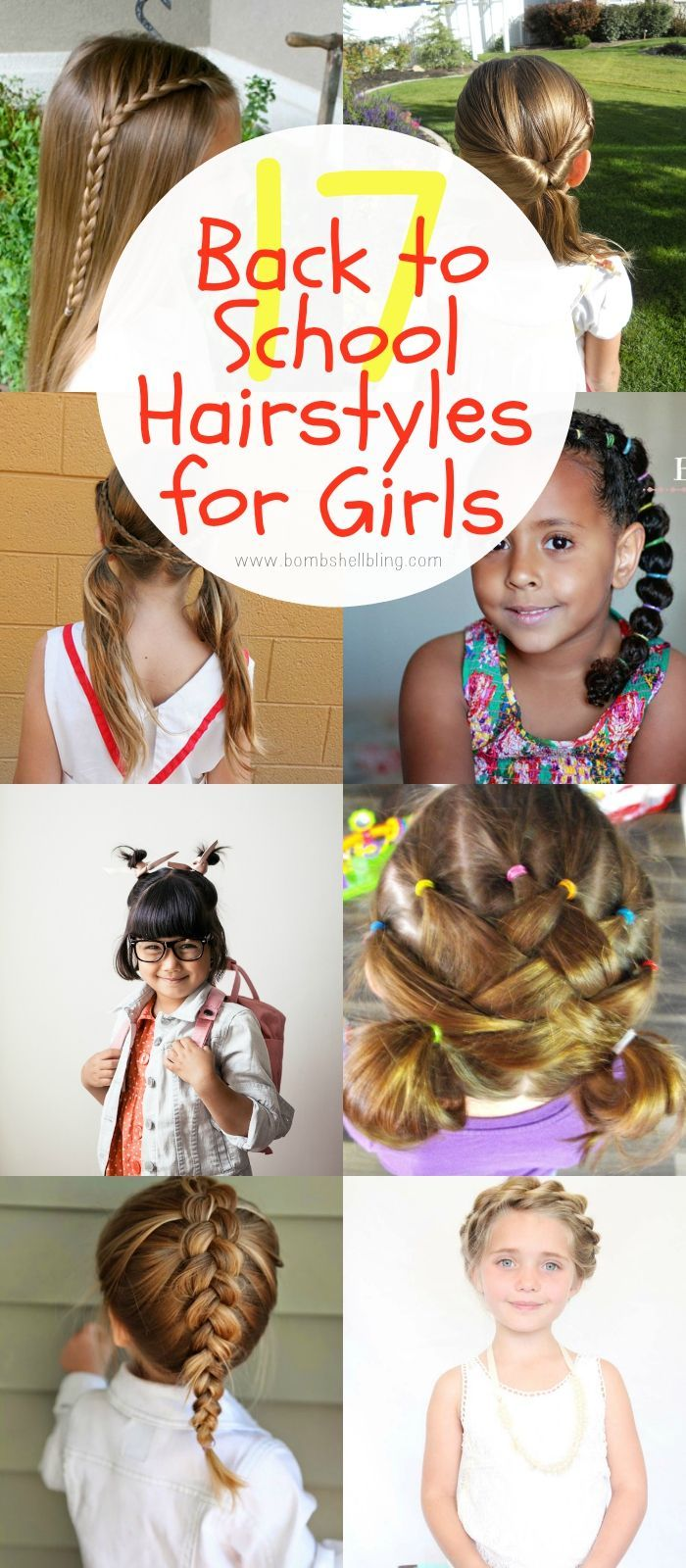 fun back to school hairstyles for girls coiffure pinterest