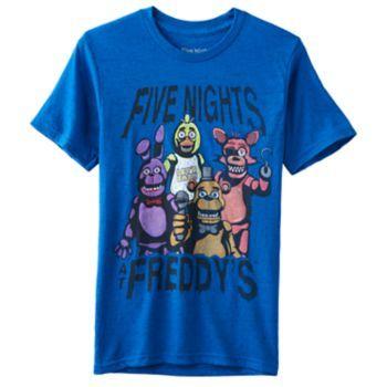 Kids 8-20 Five Nights at Freddys Sister Location Tee Black