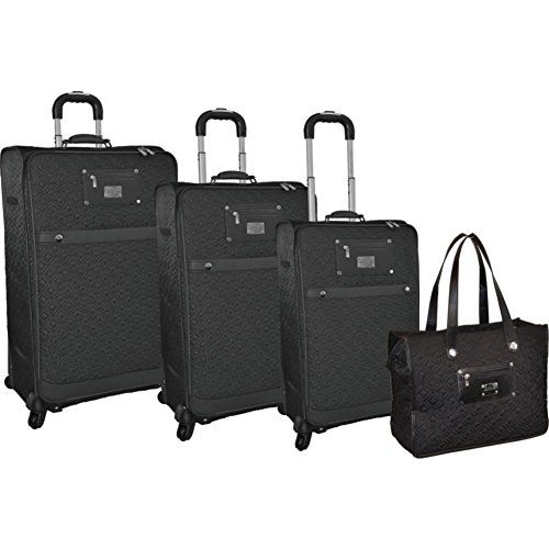 Office on Wheels Case in Black Piel Custom Personalized leather Rolling Laptop Briefcase