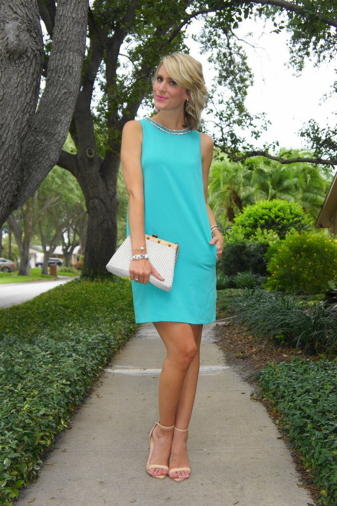 Jennifer Rand of Belle de Couture in a Wallis Fashion dress, Zara heels, and vintage bag