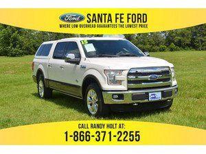 2015 White Platinum Metallic Tri Coat Ford F 150 King Ranch 37395p