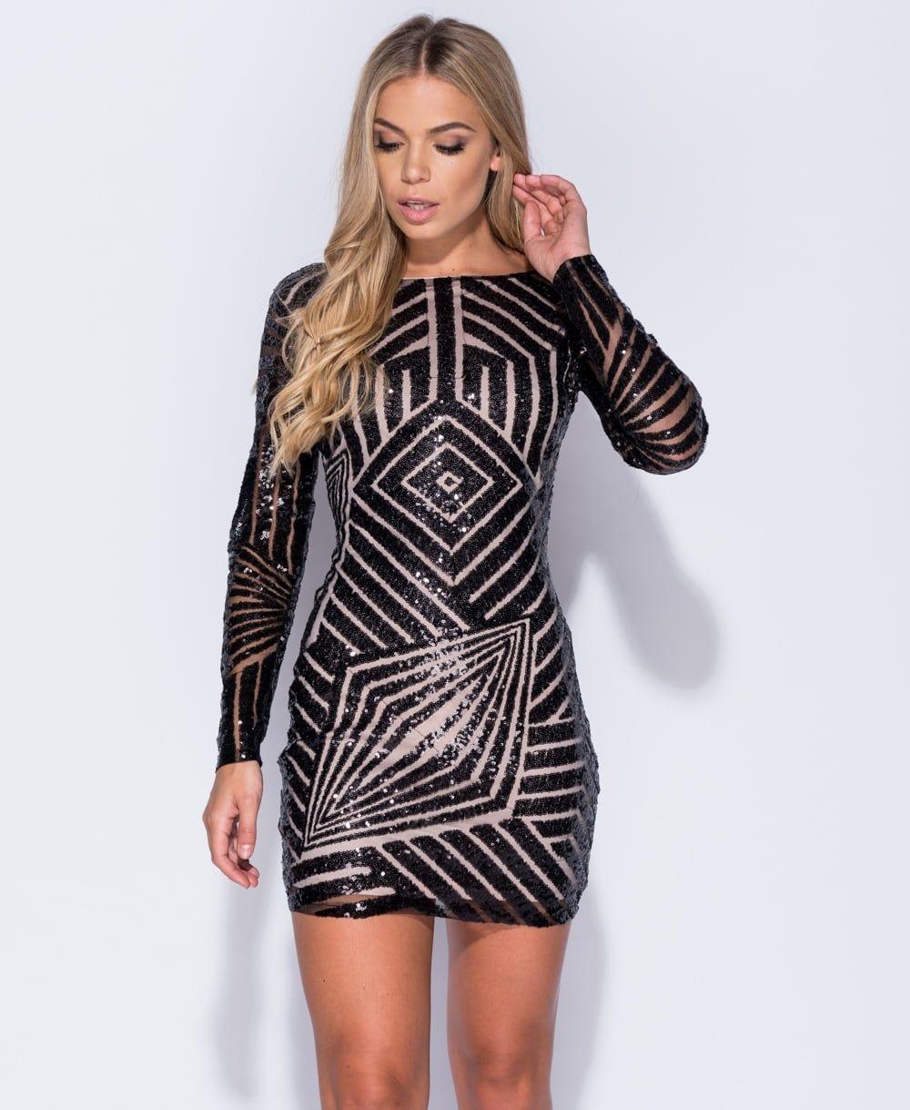 Robyn Sequin Bodycon Dress