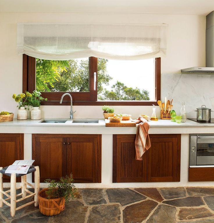 Resultado de imagen para escaleras rusticas de madera cemento cocina cocinas cocinas - Escaleras rusticas ...