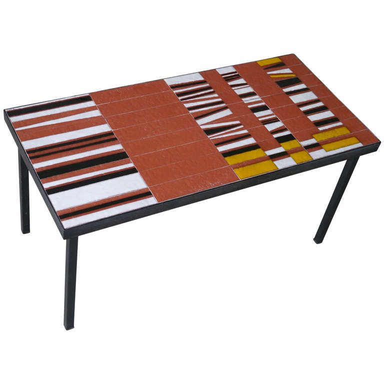 A Never Seen Coffee Table By Roger Capron Vallauris France Circa 1950 From A Unique Collecti Modern Retro Furniture Mid Century Coffee Table Coffee Table