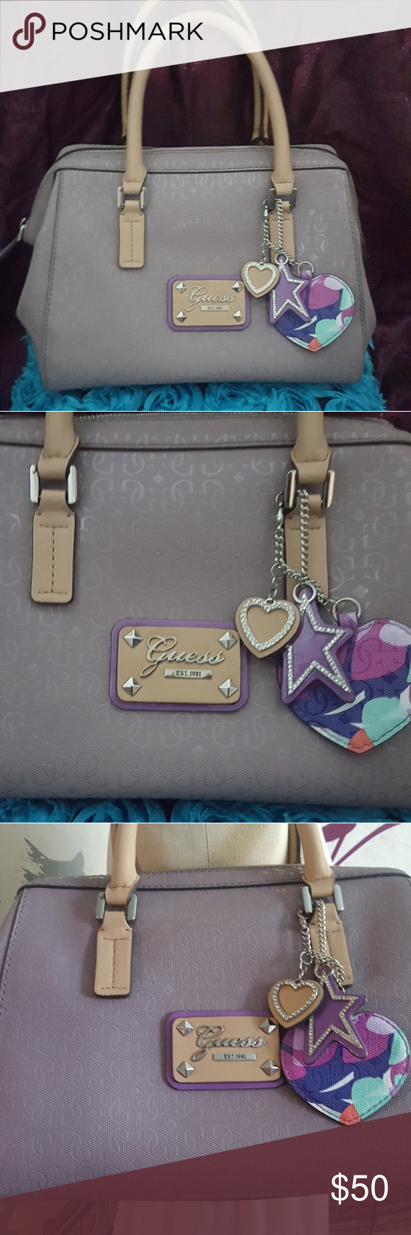a811dc7e9198 NWOT Guess shoulder bag Beautiful Guess brand bag with hangtags. Lavender  color. Gorgeous