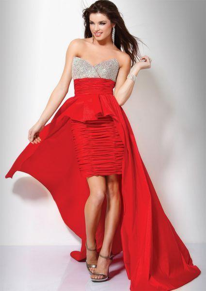 Vestidos de fiesta rojos cortos 2011