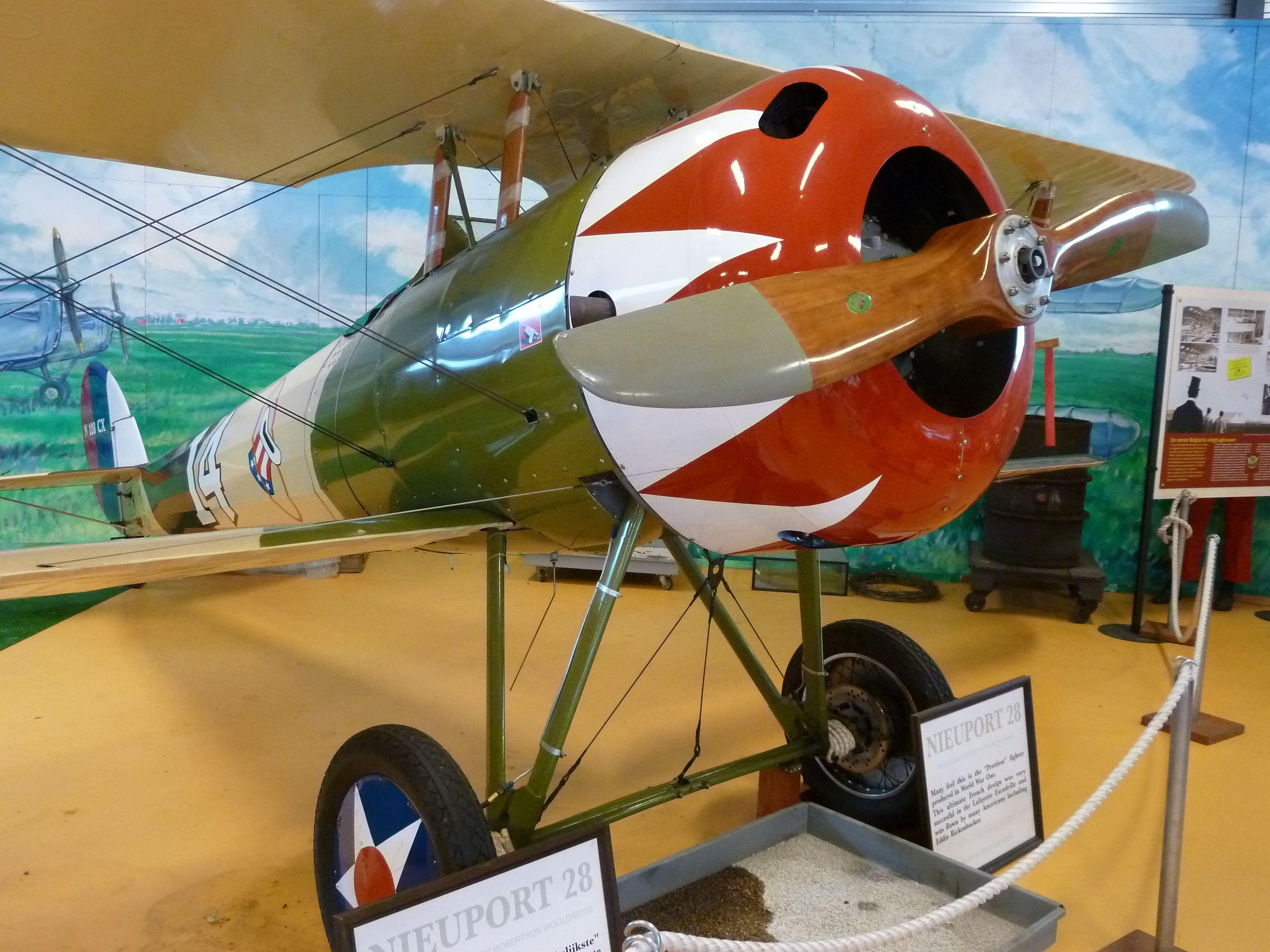 Nieuport 28, Stampe Vertongen museum Antwerp Belgium. All planes still can fly. Januari 2014