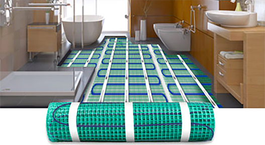 heated tile floor electric radiant