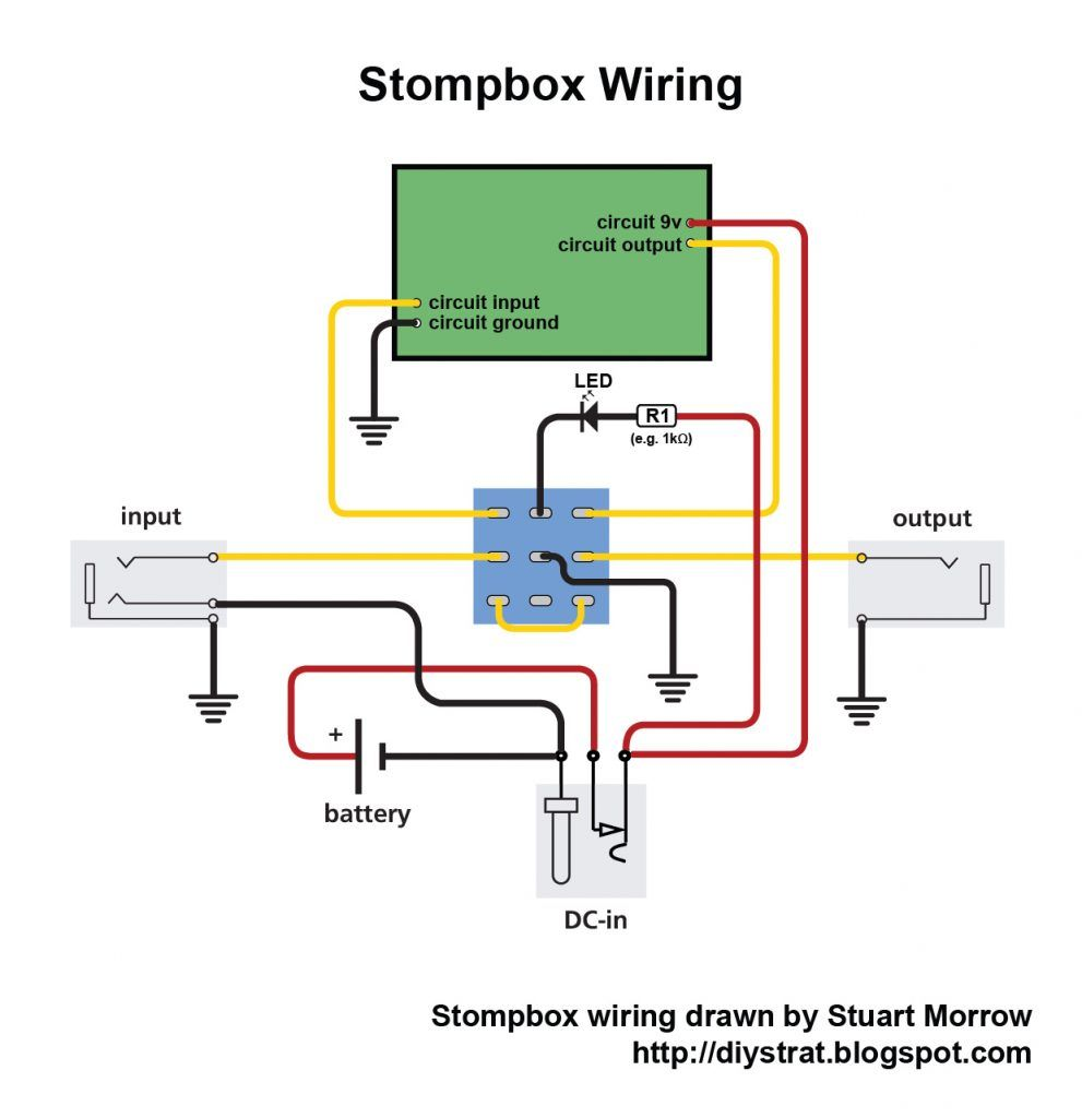 Electrical Wiring : Alternative Stompbox Wiring 01 Jack With A Light Switch  97 S Jack With A Light Switch Wiring (+97 Similar Diagrams)