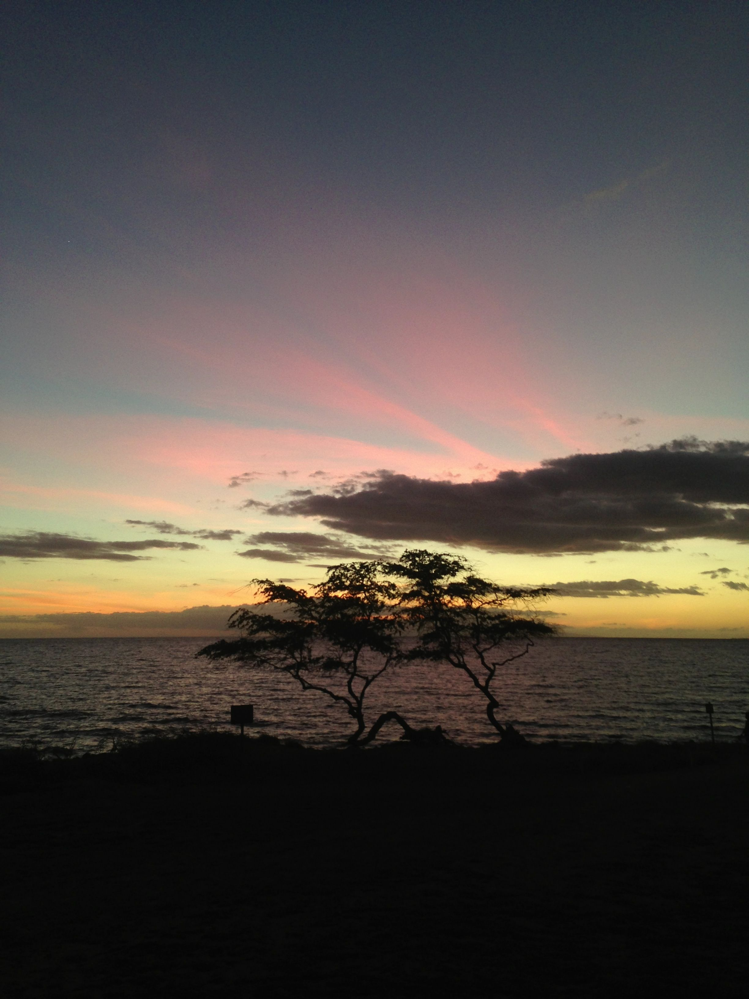 Pink sky's , Maui, Hawaii.