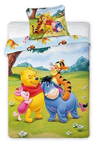 Winnie L\'Ourson parure, linge de lit bébé 100% Coton, housse de ...