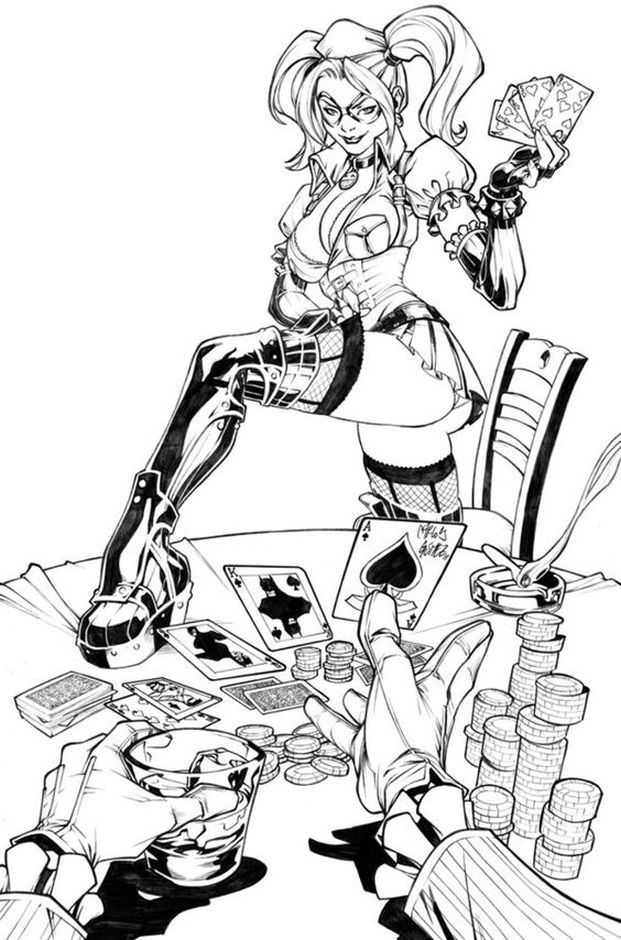 Suicide Squad Harley Quinn Coloring Pages For Adults Coloring