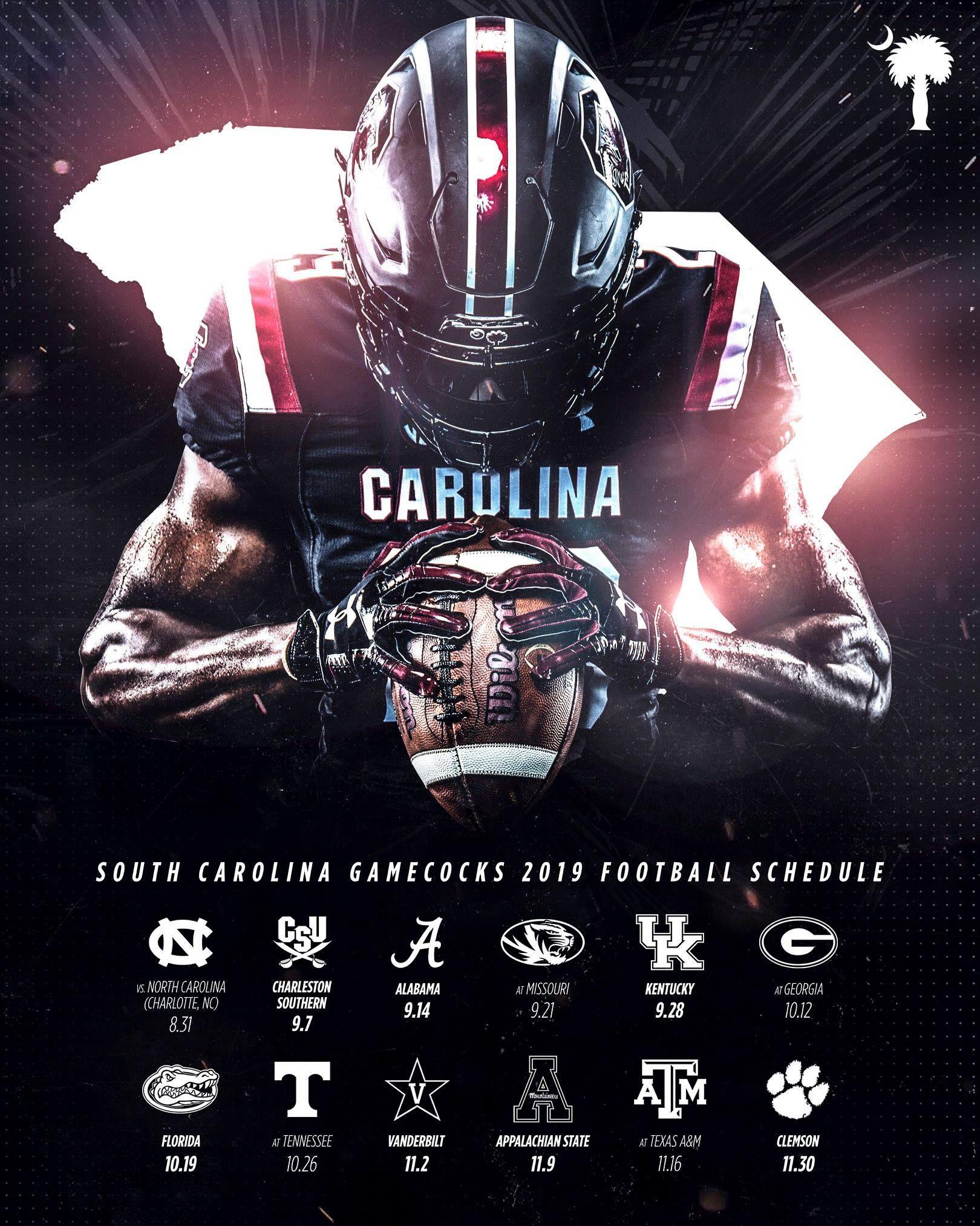 South Carolina Gamecocks 2019 Football Schedule Gamecocks