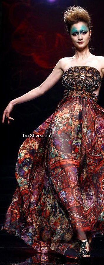 China Fashion Week - Deng Hao Chinese inspired fashion