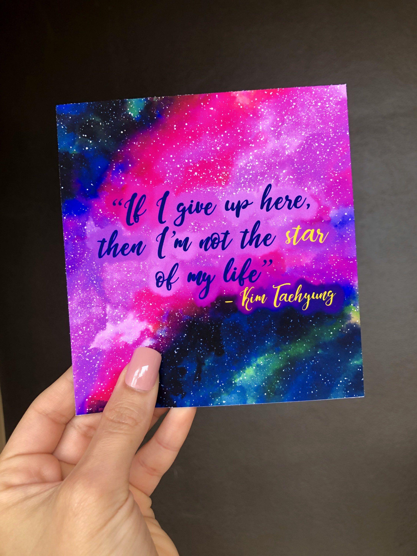 Bts Taehyung Unicef Quote Galaxy Art Print Taehyung Quote Bts Quote Bts Speech Bta Art Print Taehyung Art Print Galax In 2020 Bts Quotes Galaxy Art Bts Taehyung