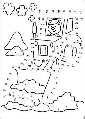 Fichas Para Unir Puntos Y Formar O Completar Dibujos Esencial Para Trabajar Los Numeros Y Unir Puntos Del 1 Al 100 Con Ninos De Fichas Juego De Puntos Puntos