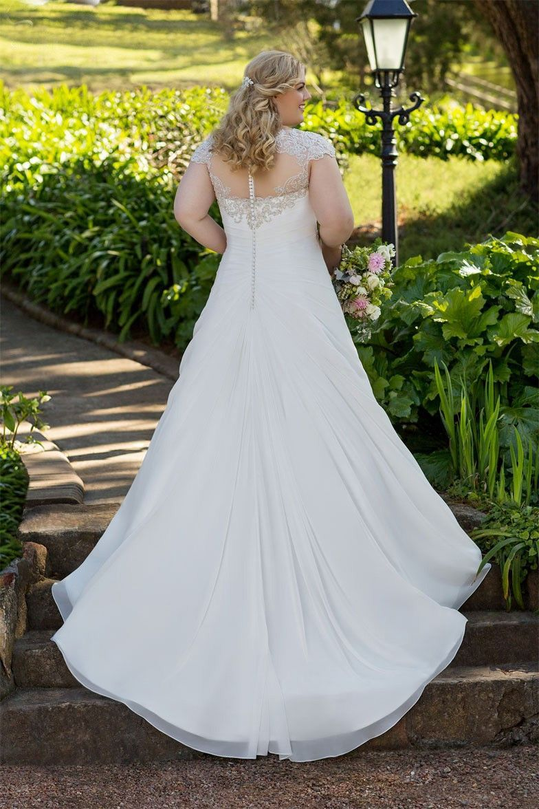 White and blue wedding dress  Plus Size Lace u Applique Wedding Dress  Available up to size  W