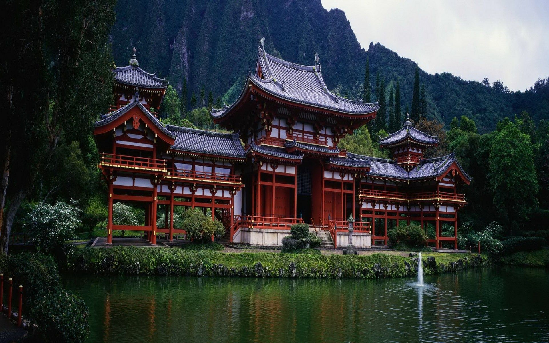 Ancient chinese mountain temple