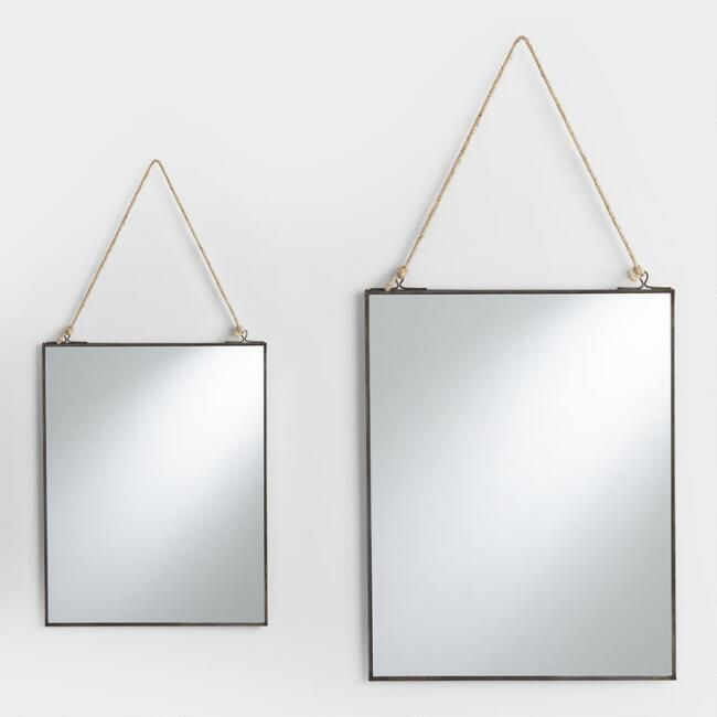 Our Handcrafted Mirror Features A Thin Antique Zinc Metal