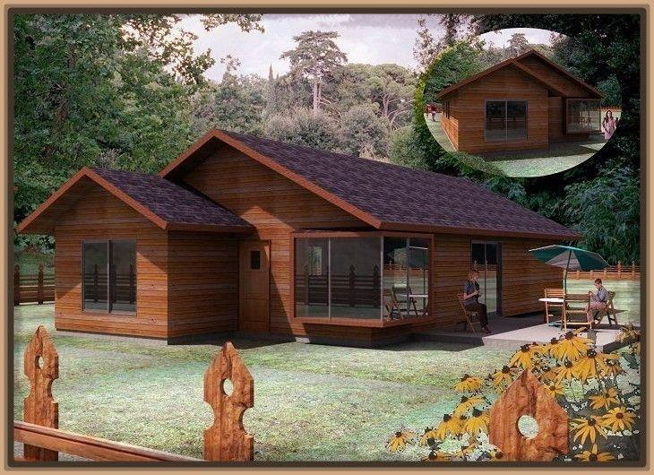 Modelos de cabanas pequenas en madera casas pinterest for Cabanas de madera pequenas