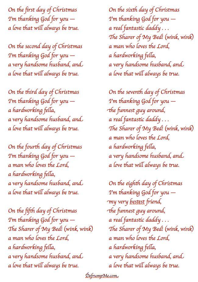 Christmas Humor Christmas Love 12 Days Of Christmas