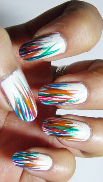2 Colourful Nail Art Design Tutorials For Kids Pinterest