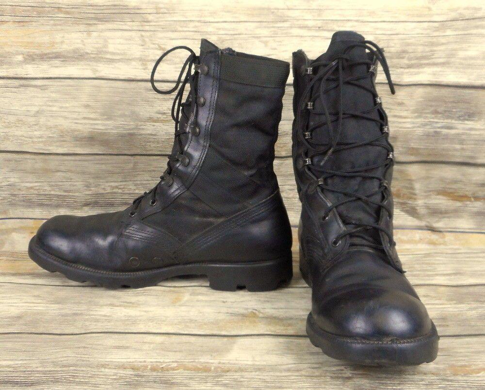 Altama Combat Boots Black Canvas Mens Size 9.5 R D Military Army ...