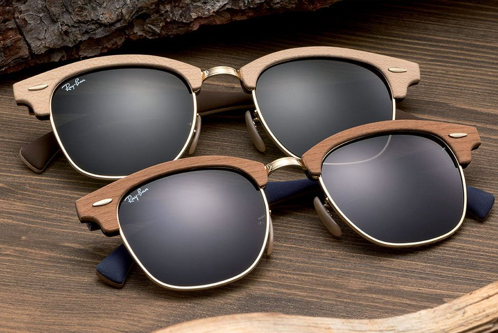 """7c381236d22 mad-gear  """"Ray-Ban Clubmaster Wood -  188 • Made in US • Wood frame •  Plastic lens • Non-Polarized • 100% UV protection coating • Lens width  51  mm ..."""